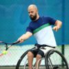 NOTTINGHAM, ENGLAND - AUGUST 02:  Stefan Olsson of Sweden in action during his match against Maikel Scheffers of The Netherlands on day two of the British Open Wheelchair Tennis on August 2, 2017 in Nottingham, England.  (Photo by Ben Hoskins/Getty Images)
